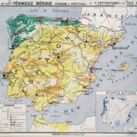 Péninsule ibérique : carte économique